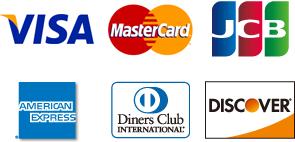 内視鏡検査、内視鏡ドックには各種クレジットカードをご利用いただけます。